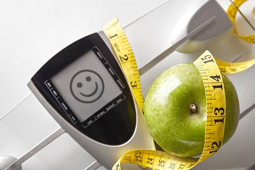 l'obésité en france qui est concerné ? ici une pomme et une règle