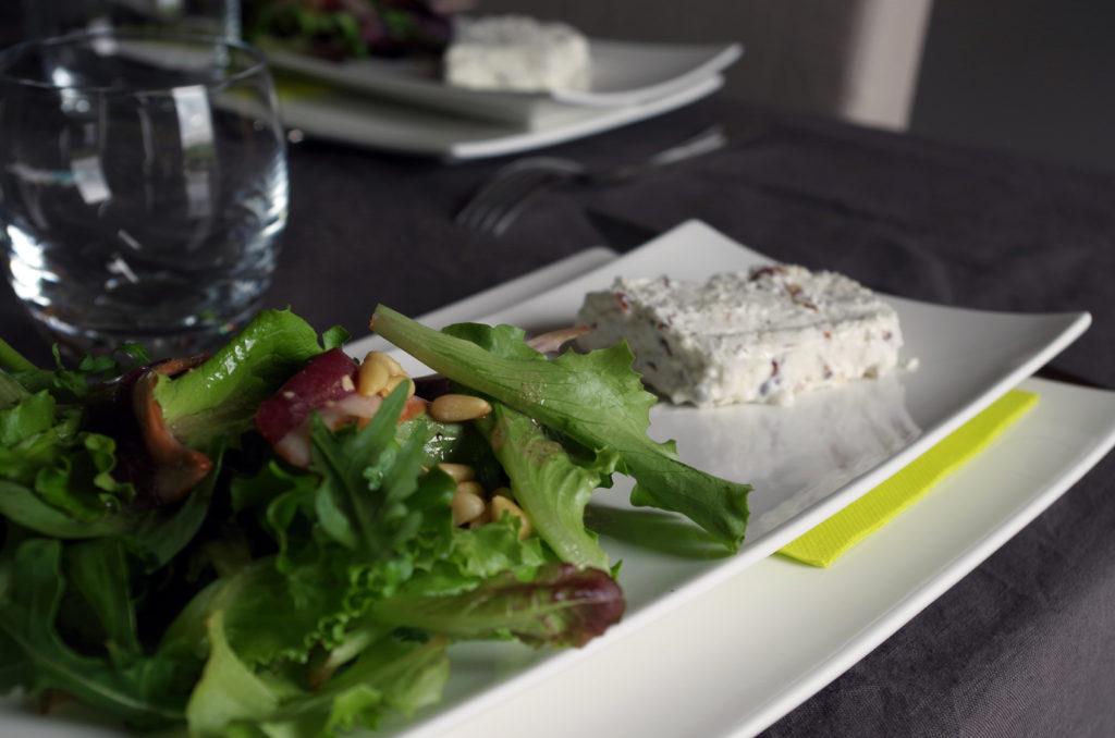 terrine fromage de chèvre et ciboulette